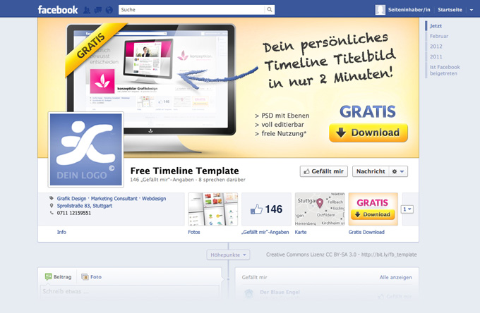 Gratis Download - Fanpage Template